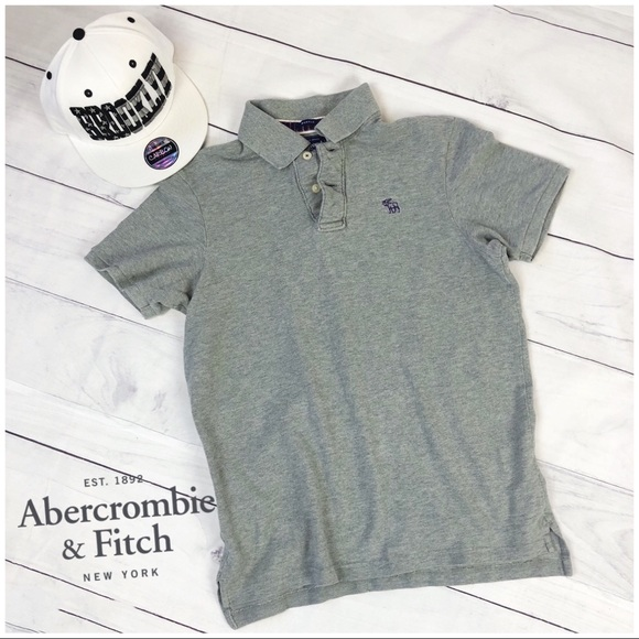 93aeb57493e875 Abercrombie   Fitch Other - Men s A F Muscle Polo Shirt. Grey Medium Small